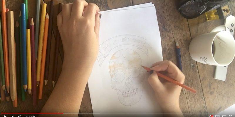 Gif-animasjon av hodeskalle