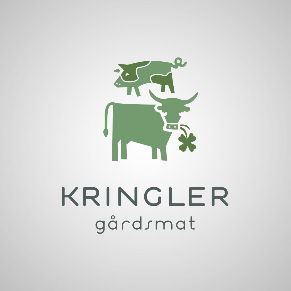 Kringler Gårdsmat logo stående