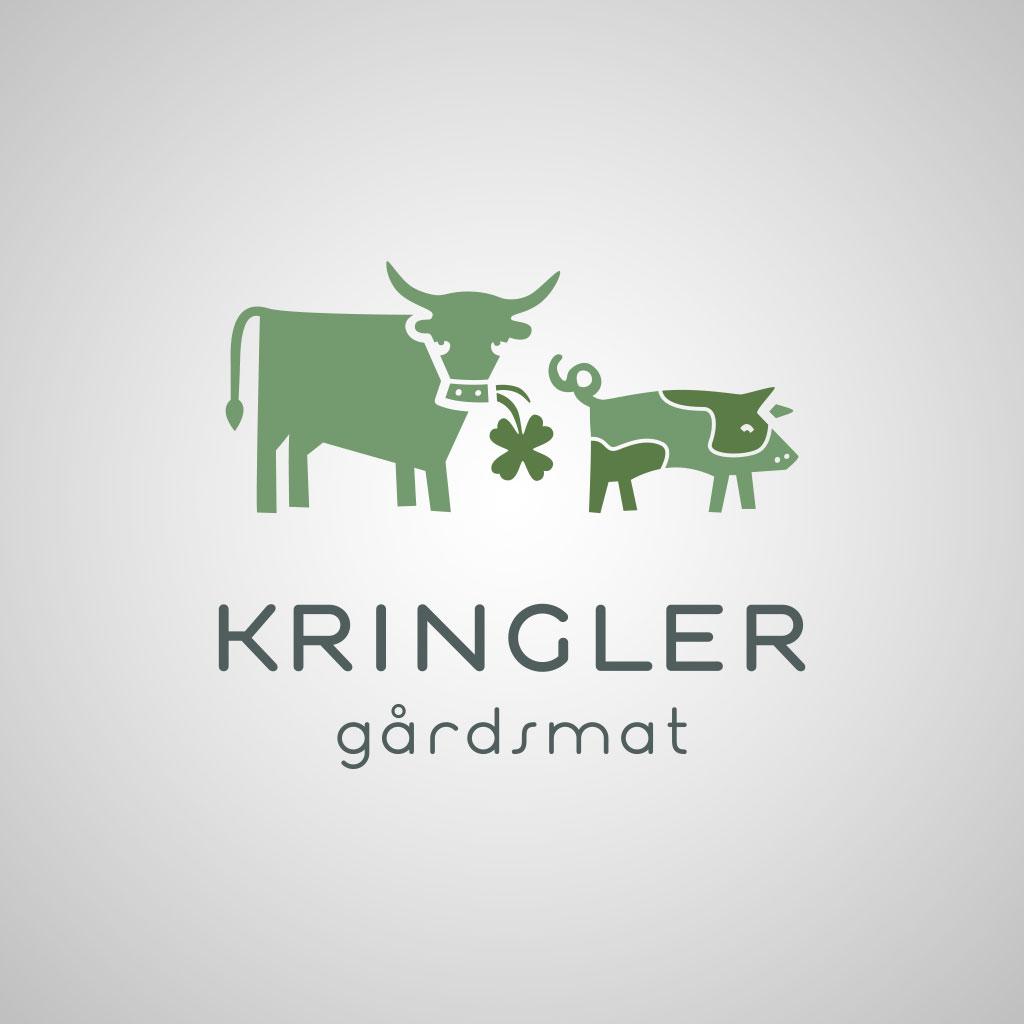 Kringler Gaardsmat liggende logoversjon